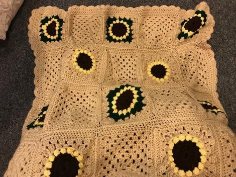 Crochet Sunflower Granny Square | Tanglewood Knots