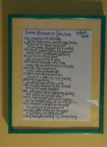 Summer Afternoon Poem