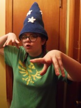 Maddie casting Spell of Geekness