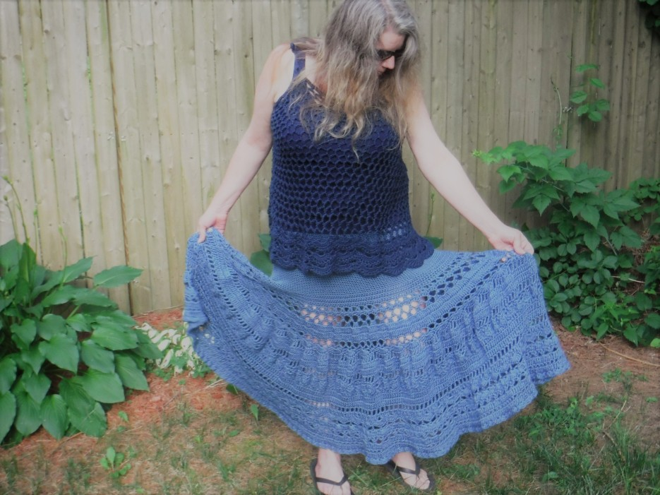 boho crochet maxi skirt 1
