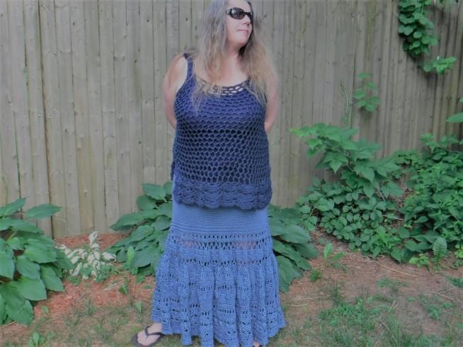 boho crochet maxi skirt 2