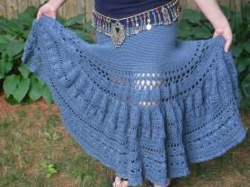 boho crochet maxi skirt