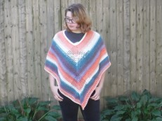 lazy diamond poncho 3