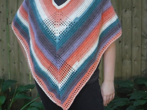 lazy diamond poncho