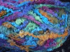 lion brand boucle yarn closeup