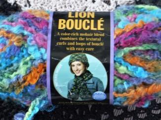 lion brand boucle yarn